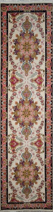 Sale 8370C - Lot 13 - Persian Silk Tabriz 320cm x 80cm