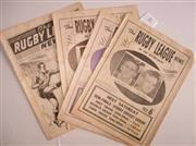 Sale 8418S - Lot 8 - RUGBY LEAGUE NEWS 1960 Vol 41 Nos. 21, 22, 23, 24