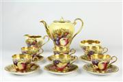 Sale 8441 - Lot 8 - Aynsley Fruit Coffee Set for Six Persons by Doris Jones Doris & Nancy Brunt
