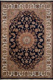 Sale 8455C - Lot 3 - Indo persian Nian Silk & Wool 125cm x 185cm