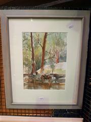 Sale 8663 - Lot 2128 - 2 Works: Diana Watson - Xanadu, Watercolour, SLR & Cynthia Jackson - Bush Scene, SLL