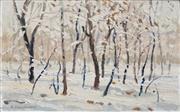 Sale 8693A - Lot 5038 - Clem Millward (1929 - ) - Wood near Urumqi, XinJang 12.5 x 21cm