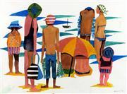 Sale 8787A - Lot 5028 - Dorothy Braund (1926 - 2013) - Summer on the Beach, 1974 37 x 49.5cm
