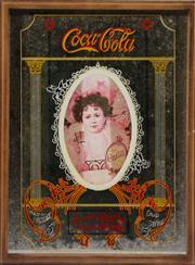 Sale 9003C - Lot 675 - Framed Coca Cola bar mirror (40cm x 30cm)