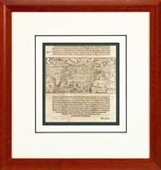 Sale 9023H - Lot 50 - A German page of text from a book. Engraving, 18cm x 19.5cm