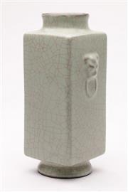 Sale 9070 - Lot 96 - A Celadon Crackle Glaze Chinese Vase H: 26cm