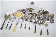 Sale 8381 - Lot 152 - Silver Plated Cutlery Wares with Other Tablewares incl. Crystal Mustard Pot
