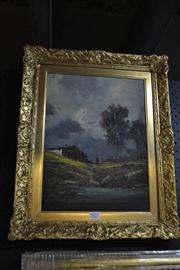 Sale 8453 - Lot 2027 - D. Rossetti (XX) - Country Scene and Figure 38 x 28cm