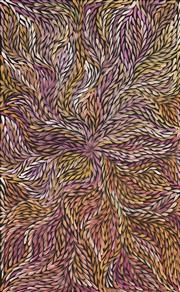 Sale 8657A - Lot 5057 - Rosemary (Pitjara) Petyarre (c1965 - ) - Yam Leaf Dreaming 92 x 57cm