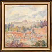 Sale 8653A - Lot 48 - Dora Serle - Looking Towards Xavier College 35 x 35cm