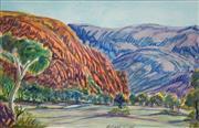 Sale 8696 - Lot 567 - Hilary Wirri (1959 - ) - Haasts Bluff 28 x 43cm