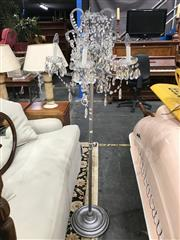 Sale 8822 - Lot 1265 - Metal Floor Lamp with Glass Drops