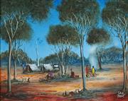 Sale 8947 - Lot 541 - Kevin Charles (Pro) Hart (1928 - 2006) - Campsite 39.5 x 49.5 cm (frame: 68 x 78 x 6 cm)