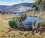 Sale 8992 - Lot 532 - Leonard Long (1911 - 2013) - Valley Landscape, 1962 55 x 64.5 cm (frame: 75 x 85 x 5 cm)