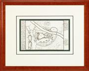 Sale 9023H - Lot 52 - An early engraving of a Map of Ofen, 28.5cm x 17.5cm