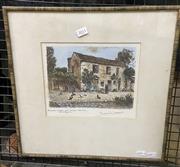 Sale 9053 - Lot 2051 - Maurice Jacques Escalier Coror au Musee Gamme Barbizon hand-coloured etching