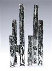 Sale 9090 - Lot 3 - Pair of Don Shiel candle holders (H31cm)