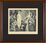 Sale 8330A - Lot 108 - Norman Lindsay (1878 - 1969) - Priestess to the Magi, 1934 22.5 x 27.5cm
