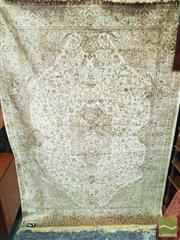 Sale 8416 - Lot 1068 - Wool and Silk Machine Woven Carpet, in golden & cream tones (228 x 156cm)