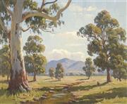 Sale 8704 - Lot 599 - Erik Langker (1898 - 1982) - Towards the Hill 40.5 x 50.5cm