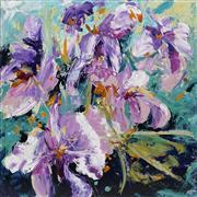 Sale 8732 - Lot 515 - Cheryl Cusick - Irises 101.5 x 101.5cm