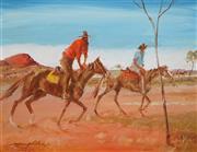 Sale 8870A - Lot 574 - Keith Naughton (1925 - ) - Leaving the Olgas 34.5 x 45 cm