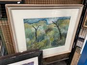 Sale 8861 - Lot 2073 - Harry Rosengrave (1899-1986) - Bush Landscape, Dandenong Ranges, Victoria 62 x 46cm