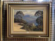 Sale 8891 - Lot 2017 - John Emmett - Tranquil Light Evening, jameson Valley, Katoomba, 1987 29.5 x 39.5cm