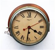Sale 9090 - Lot 18 - Smiths 8 Day Ships Clock with Key