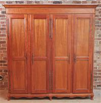 Sale 9090H - Lot 98 - A Four door timber wardrobe, Height 216cm x Width 201cm x Depth 64cm