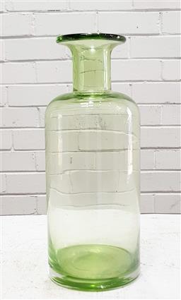 Sale 9117 - Lot 1050 - Mid century modern sea green glass Gulvvase vase after Otto Brauer (h:29cm)