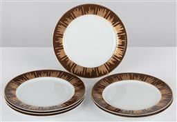 Sale 9255H - Lot 42 - A set of 6 Christian La Croix Mocador cake plates, Diameter 21.5cm.