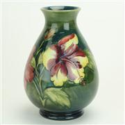 Sale 8393B - Lot 9 - Moorcroft Hibiscus Vase