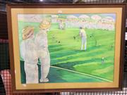 Sale 8752 - Lot 2079 - Croquet Print -