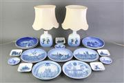 Sale 8806 - Lot 59 - Royal Copenhagen Pair Of Lamps Together With Ceramics