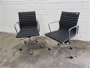 Sale 9059 - Lot 1067 - Pair of Eames Style Office Chairs (h:93 x w:53 x d:55cm)