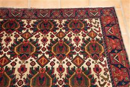 Sale 9120H - Lot 17 - A hand woven antique Persian geometric carpet, 220cm x 172cm