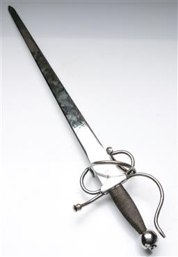 Sale 9144 - Lot 66 - A Basket Hilted 20th century sword (L:93cm)