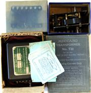 Sale 8376 - Lot 49 - Vintage Meccano Motor and Transformer; Electric Motor E20R and Transformer T20 with original boxes.