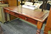 Sale 8390 - Lot 1500 - Desk with Tooled Leather Top