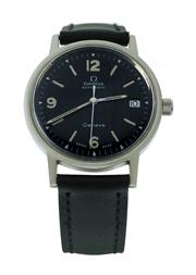 Sale 8406A - Lot 31 - Vintage mens Omega wristwatch, c 1970s, black dial, automatic, 34 mm, in stainless steel case, restored,  in working order