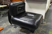 Sale 8511 - Lot 1071 - Oscar Niemeyer Pair of Lounge Chairs with Black Painted Base