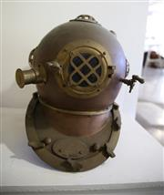 Sale 8825A - Lot 17 - A brass/copper Shultz and Gorman (reproduction) diving helmet