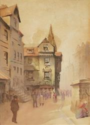 Sale 8847 - Lot 559 - Attributed to John Peter Russell (1858 - 1930) - French Street Scene 24 x 18cm
