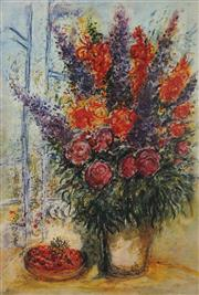 Sale 8985A - Lot 5044 - Marc Chagall (1887 - 1985) - Bowl of Cherries 89 x 63.5 cm (frame: 104 x 88 x 3 cm)