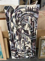 Sale 9028 - Lot 2095 - Selina Wolcotte Forbes Memory 1, 2002, woodcut on ricepaper mounted on canvas A.F, 119 x 60 cm, signed lower right, Australian Gal...