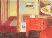 Sale 9067 - Lot 525 - Roland Wakelin (1887 -1971) - Interior Scene, 1960 24.5 x 33.5 cm (frame: 42 x 52 x 3 cm)