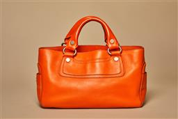 Sale 9093F - Lot 28 - A Celine Orange Boogie Bag Serial Number CE00/18 Comes With Authentication Certificate Good Vintage Condition Inside & Out