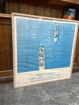 Sale 9091 - Lot 2060 - James Willebrant, Exhibition poster, frame: 93 x 92 cm