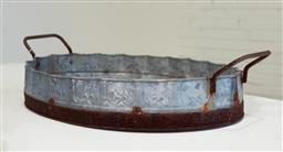 Sale 9151 - Lot 1063 - Rustic industrial corrugated twin handled serving tray (71cm)